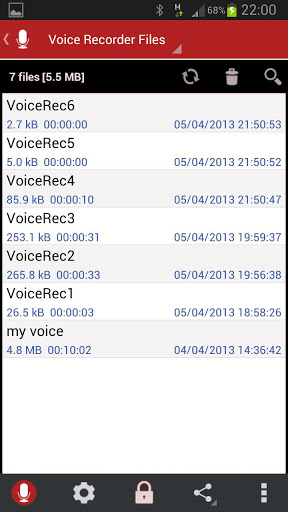 InCall Recorder and voice organized library