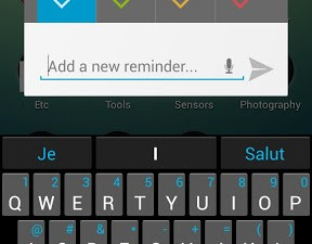 Notable typing up a reminder