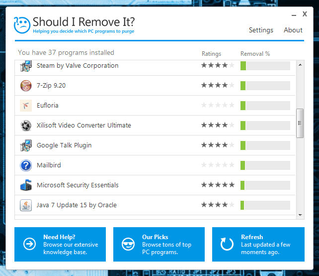 Should I Remove It UI