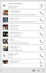 Sliding Messaging convo list