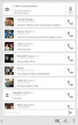 Sliding Messaging convo list