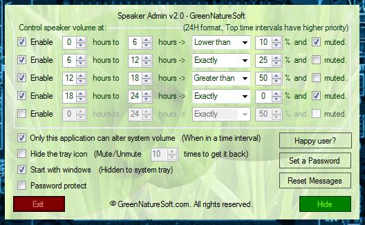 Speaker Admin Main UI