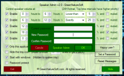 Speaker Admin set a password