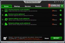 Startup Booster Main UI