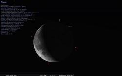 Stellarium the moon
