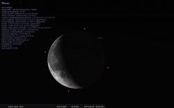Stellarium the moon
