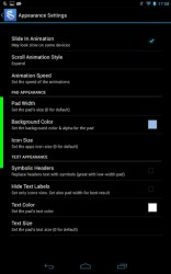 Swapps sidebar appearance settings