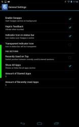 Swapps sidebar general settings