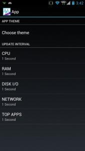 System Monitor Lite App Settings