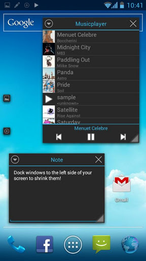 Tiny Apps music player and notes