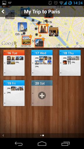 Tripomatic planned trip to Paris