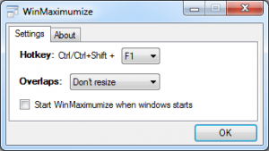 WinMaximumize