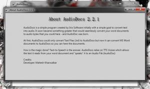 About AudioDocs
