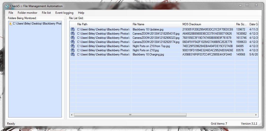 Check5 File Monitoring