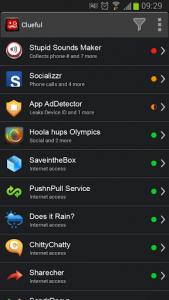 Clueful apps list