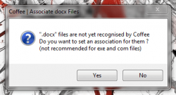 Coffee file extension not recognized