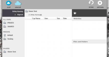 Cupcloud Beta empty UI
