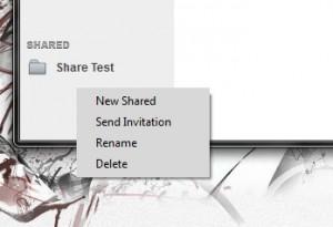 Cupcloud new shared folder