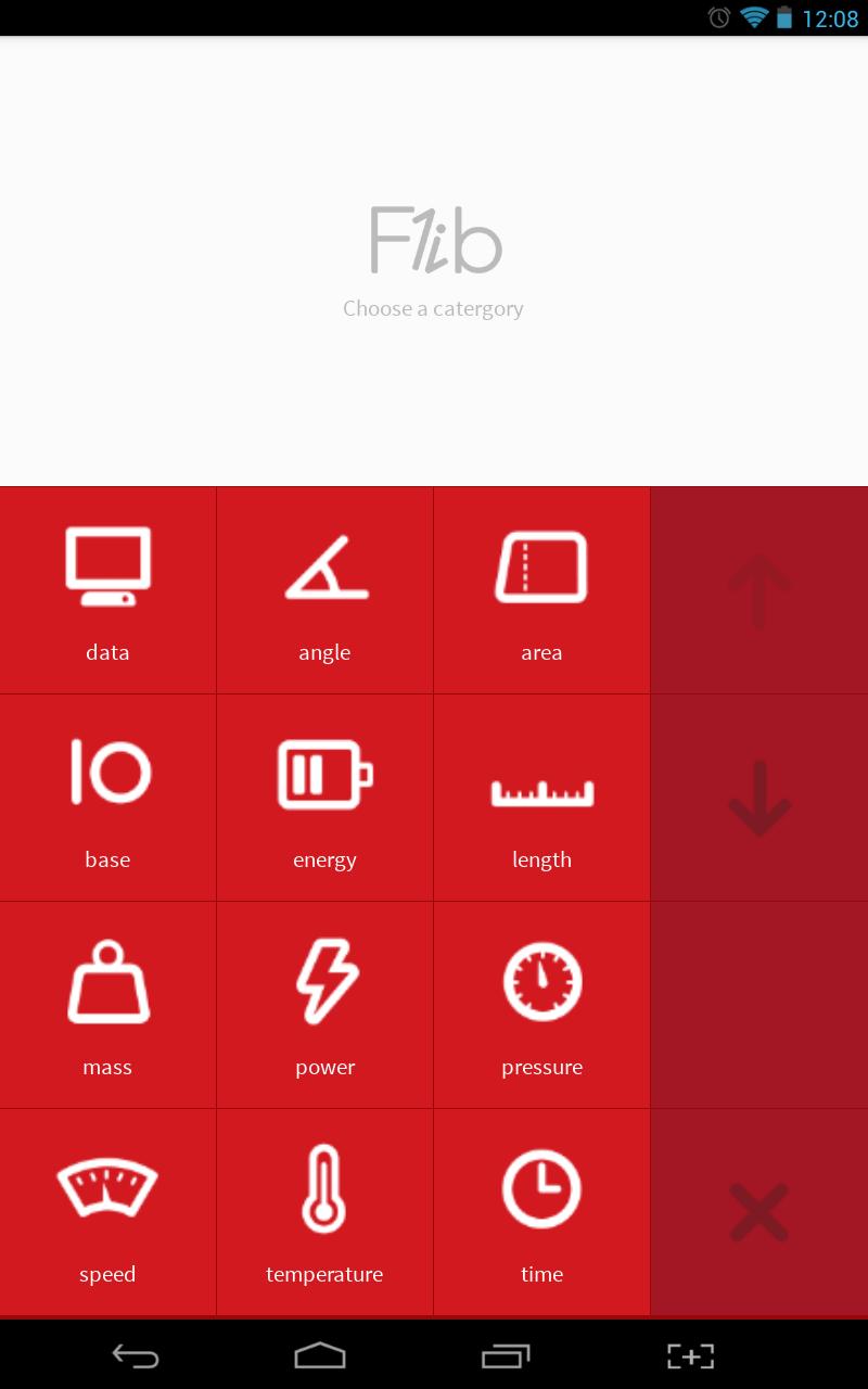 Flib main UI