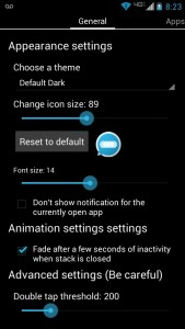 Floating Notifications Settings Menu