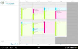 Jiffy calendar view tablet