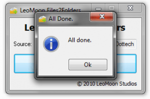 LeoMoon Files2Folders All Done