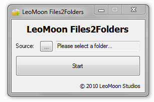 LeoMoon Files2Folders UI