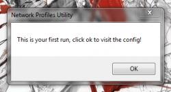 Network Profiles Utility first run