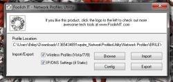 Network Profiles Utility main UI