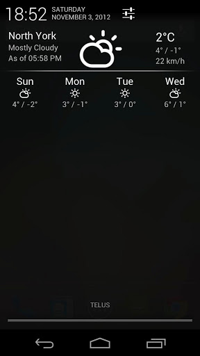 Notification Weather UI