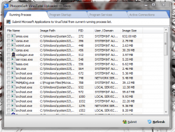 PhrozenSoft Running Services List