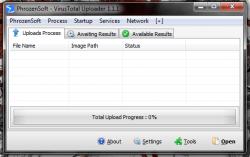 PhrozenSoft VirusTotal Uploader UI