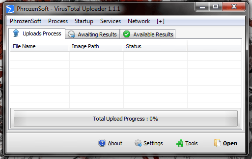 PhrozenSoft VirusTotal Uploader UI