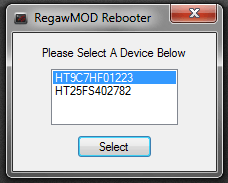 RegawMod Device selection