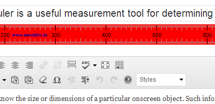ScreenRuler in action