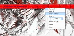 ScreenRuler right click context menu