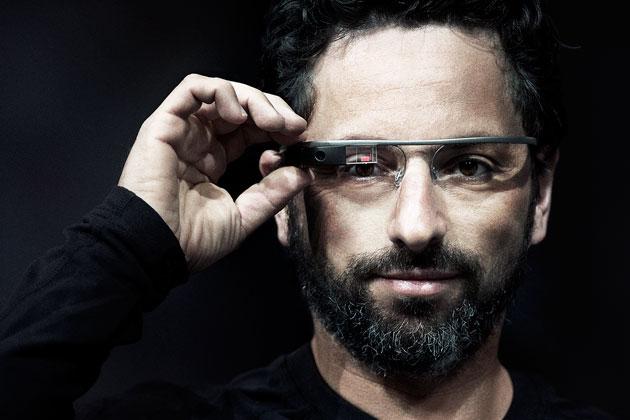 Sergey Brin with Google Glass