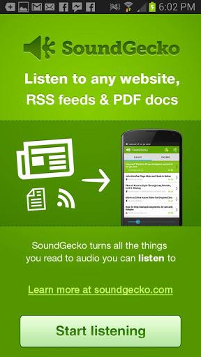 SoundGecko Start listening