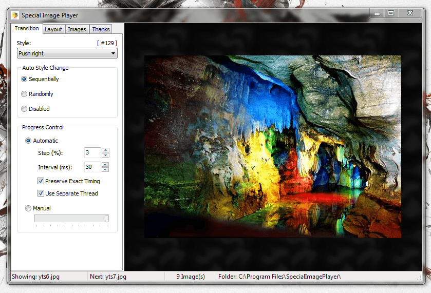 Special Image Player UI