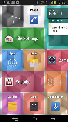 Tile Launcher UI