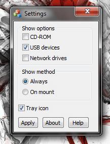 USB Extension settings