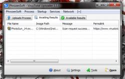 VirusTotal Uploader Scan Results Request