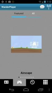 WanderPlayer game catalog