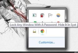 WinLock hidden window icon