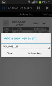 Android Bot Maker add new key
