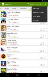 App Stats quick settings menu