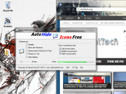 AutoHideDesktop Icons timer counting down