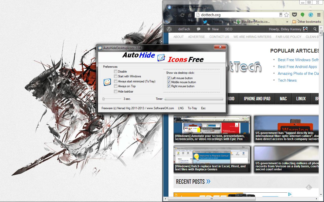 AutoHideDesktopIcons operating