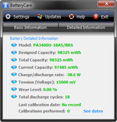 BatteryCare Main detailed info