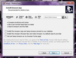 BatteryCare install bloatware